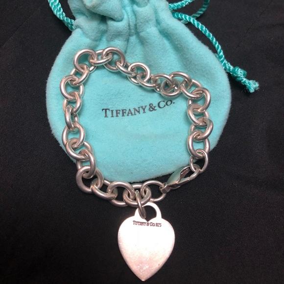 Tiffany & Co. Jewelry - Tiffany & co sterling silver heart tag bracelet